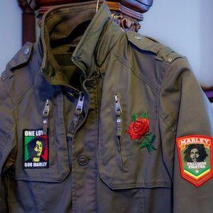 Custom Rasta Military style jacket